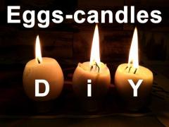 Easter eggs with candles